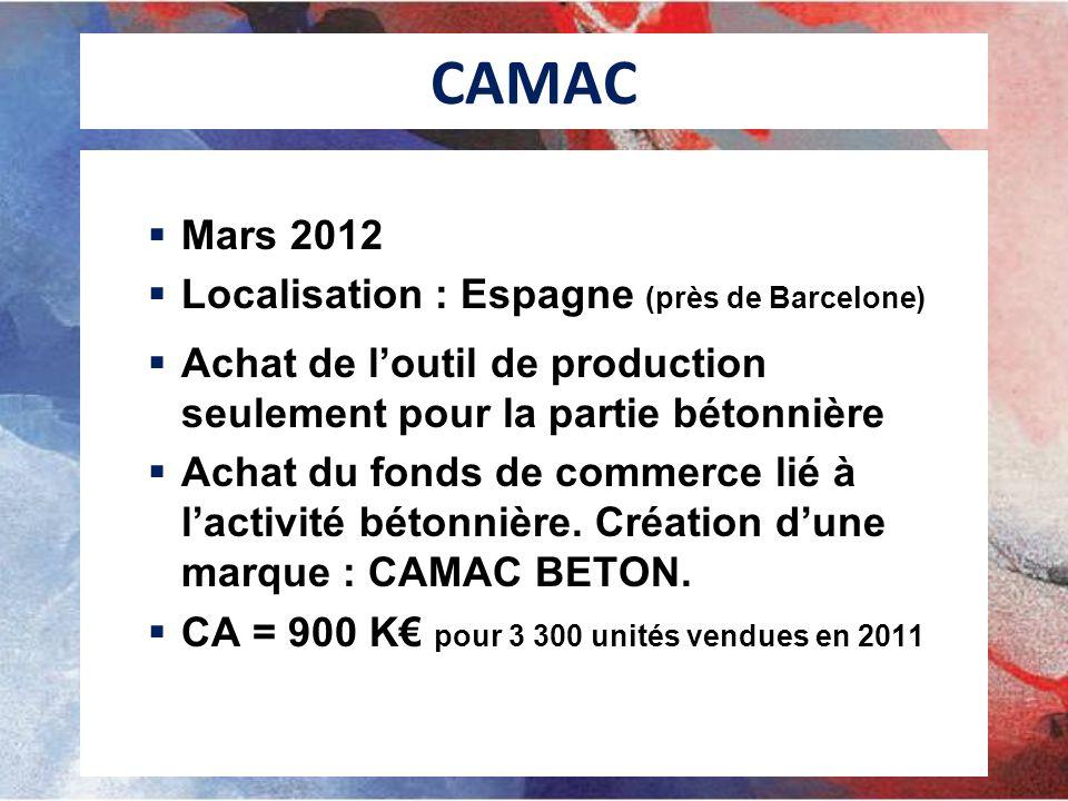 CAMAC Mars 2012 Localisation : Espagne (près de Barcelone)