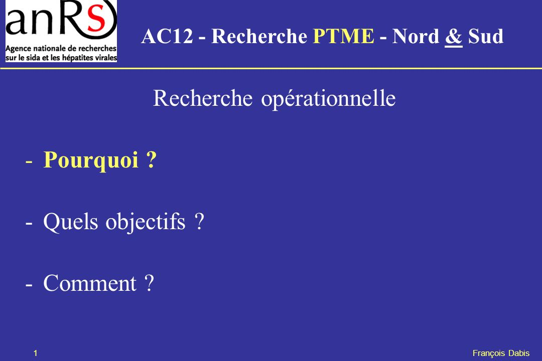 AC12 - Recherche PTME - Nord & Sud