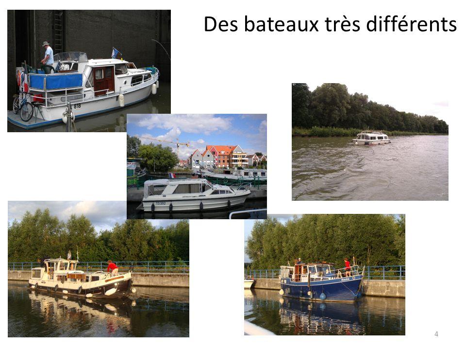Des bateaux très différents