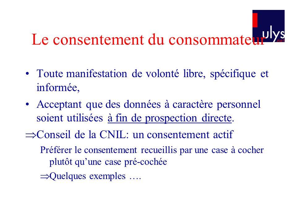 Le consentement du consommateur