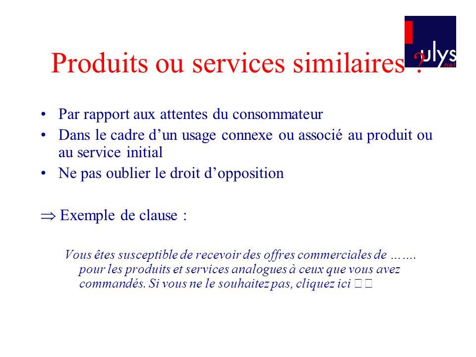Produits ou services similaires
