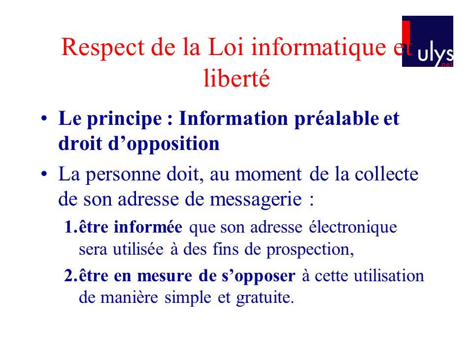 Respect de la Loi informatique et liberté