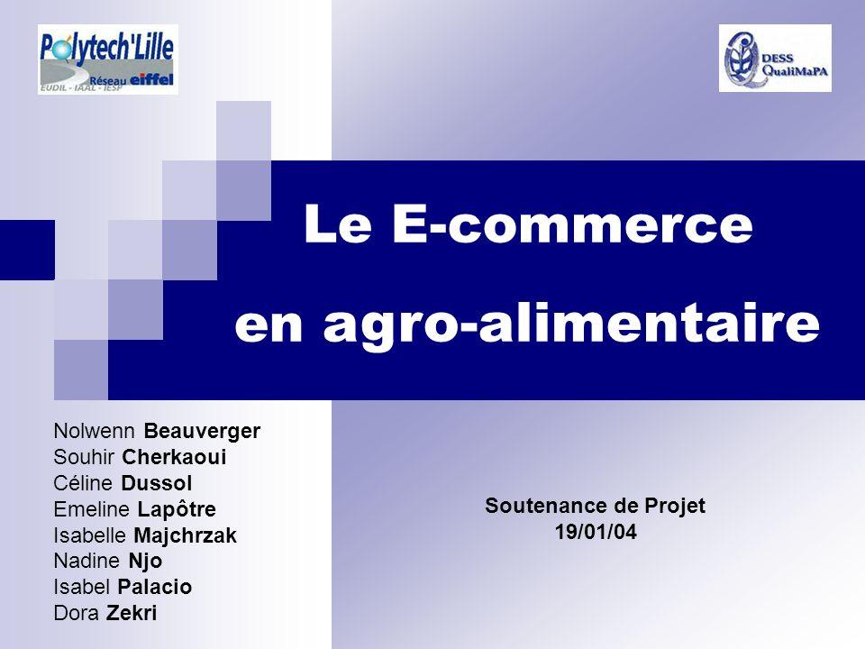 Le E-commerce en agro-alimentaire Nolwenn Beauverger Souhir Cherkaoui
