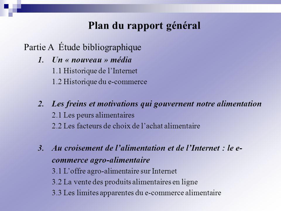 Plan du rapport général