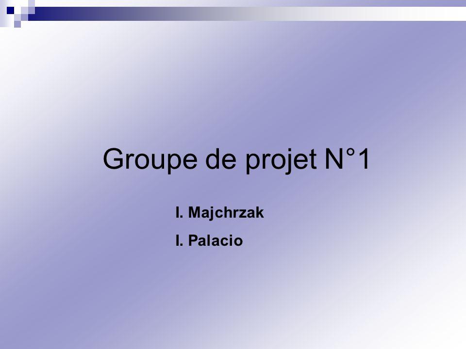 Groupe de projet N°1 I. Majchrzak I. Palacio