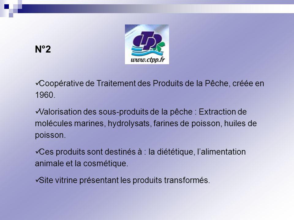 N°2 Coopérative de Traitement des Produits de la Pêche, créée en 1960.