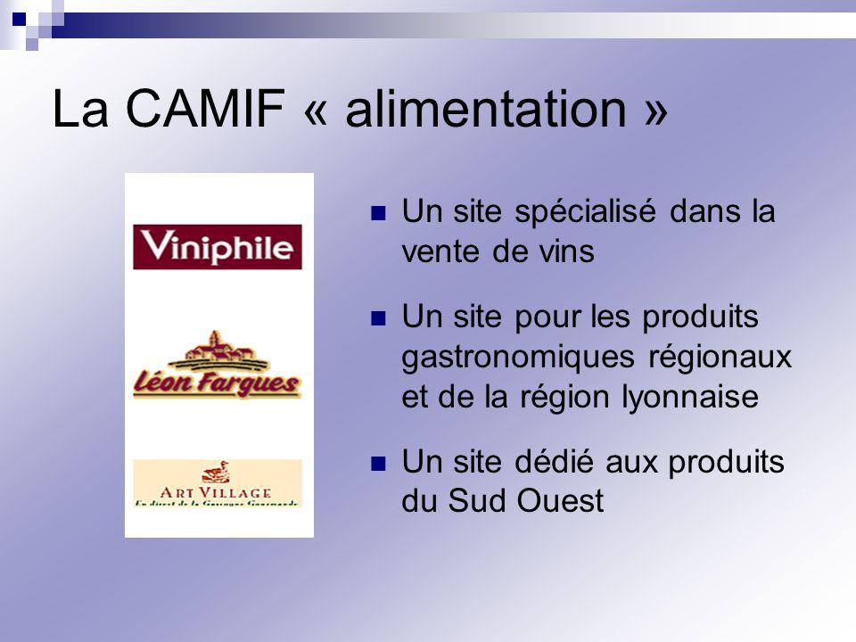La CAMIF « alimentation »