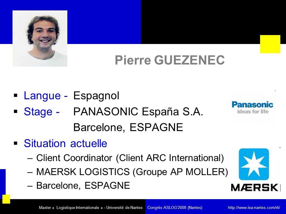 Pierre GUEZENEC Langue - Espagnol Stage - PANASONIC España S.A.