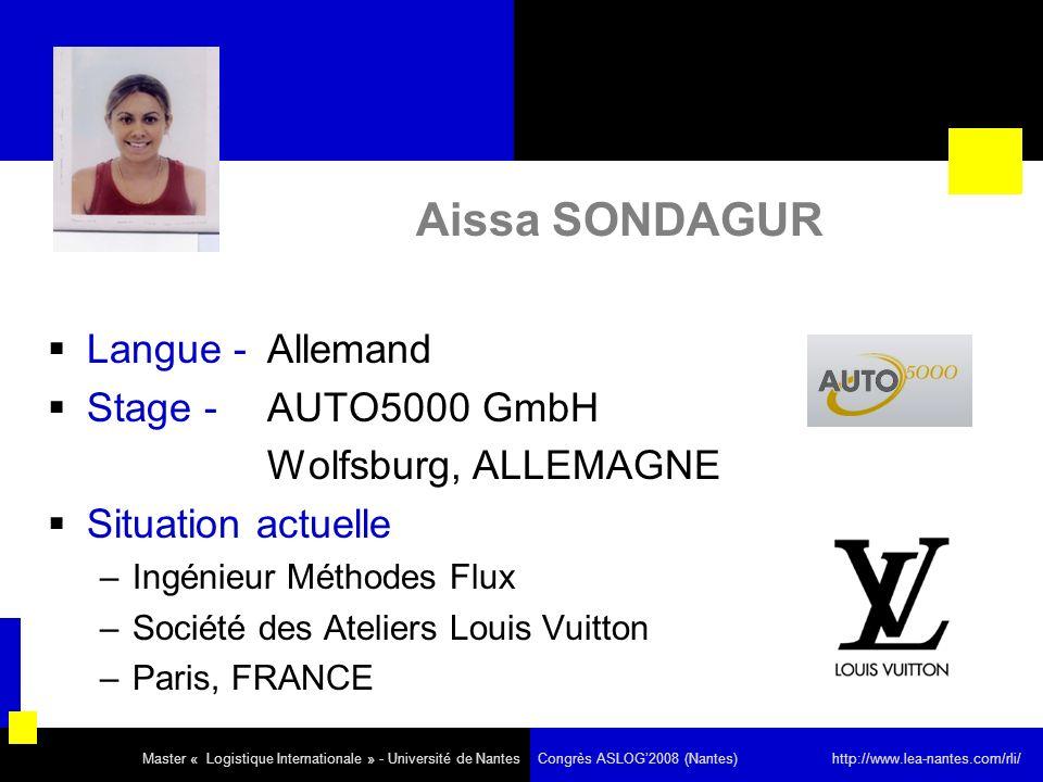 Aissa SONDAGUR Langue - Allemand Stage - AUTO5000 GmbH