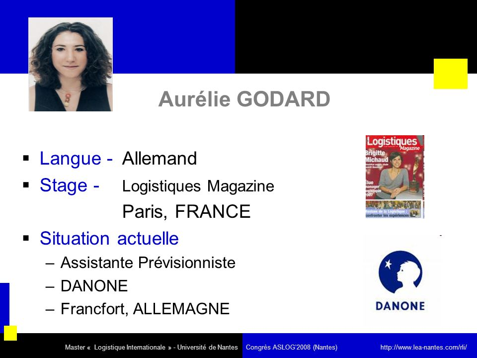 Aurélie GODARD Langue - Allemand Stage - Logistiques Magazine