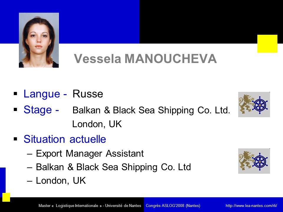 Vessela MANOUCHEVA Langue - Russe