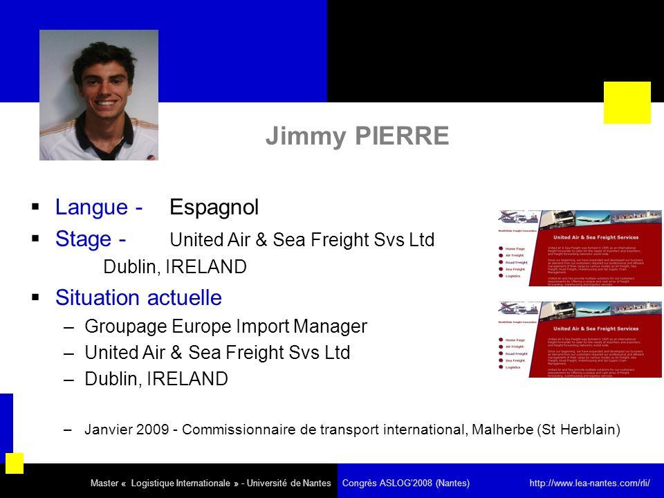 Jimmy PIERRE Langue - Espagnol