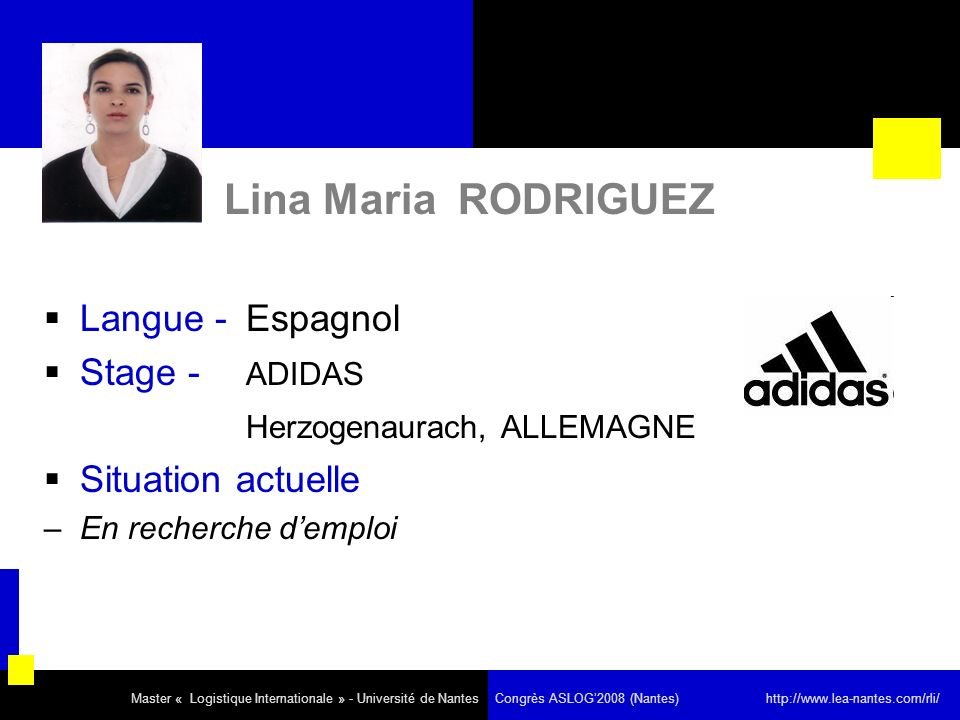 Lina Maria RODRIGUEZ Langue - Espagnol Stage - ADIDAS