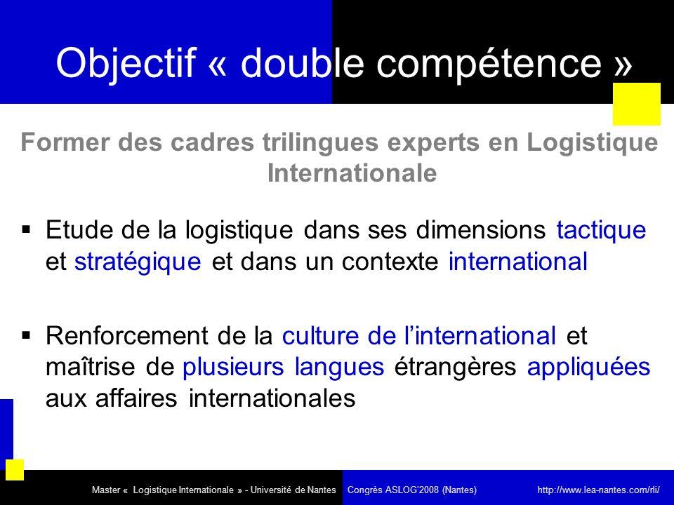Objectif « double compétence »
