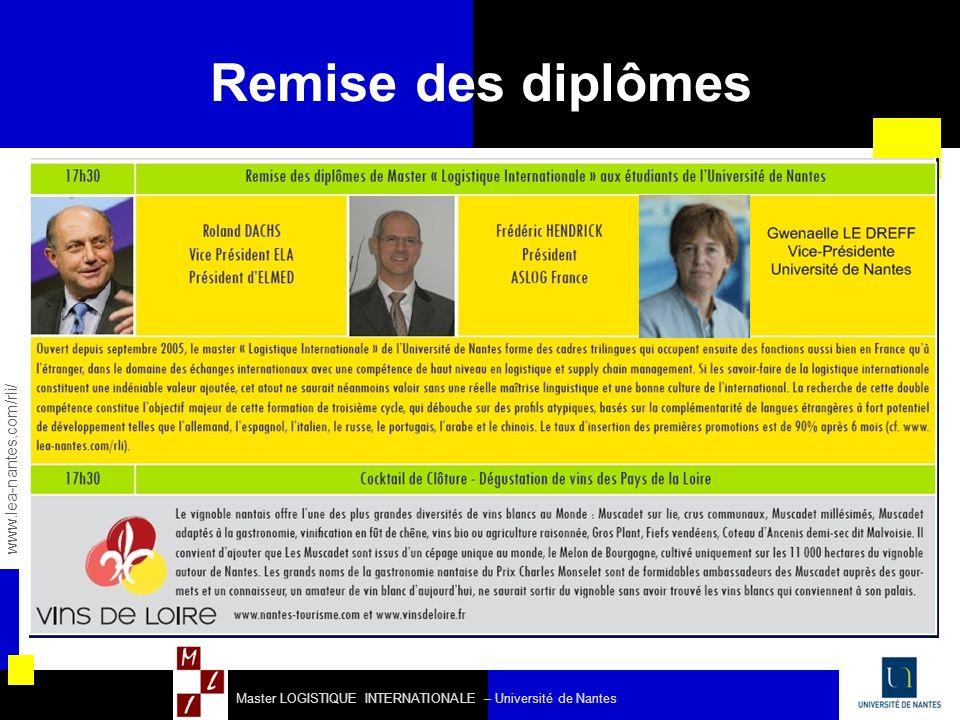 Remise des diplômes 31 www.lea-nantes.com/rli/