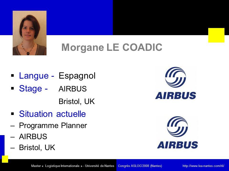 Morgane LE COADIC Langue - Espagnol Stage - AIRBUS Bristol, UK