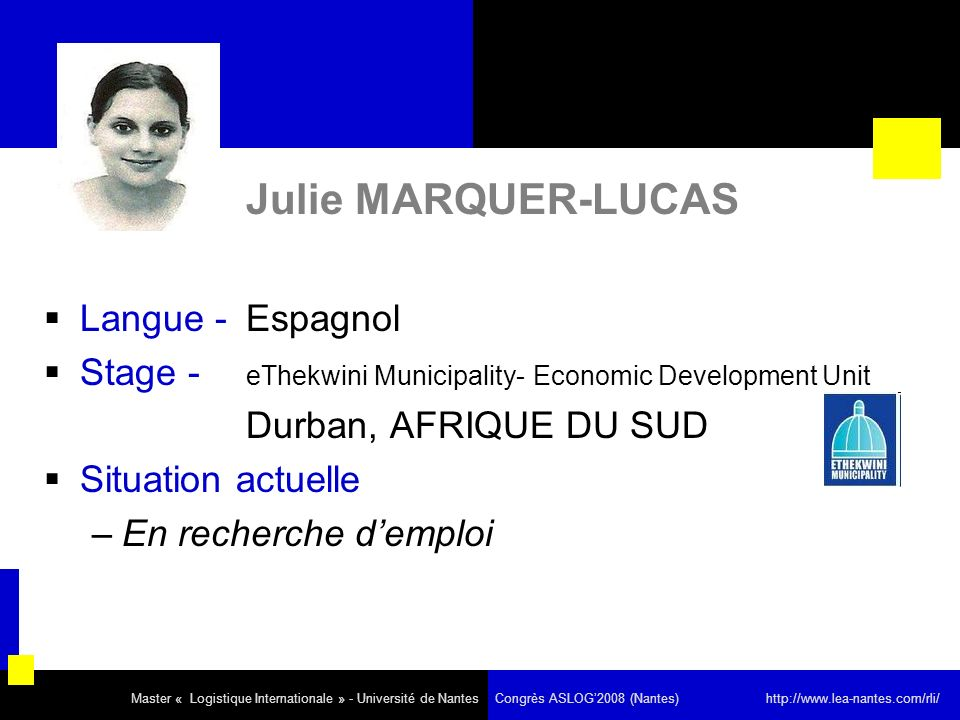 Julie MARQUER-LUCAS Langue - Espagnol