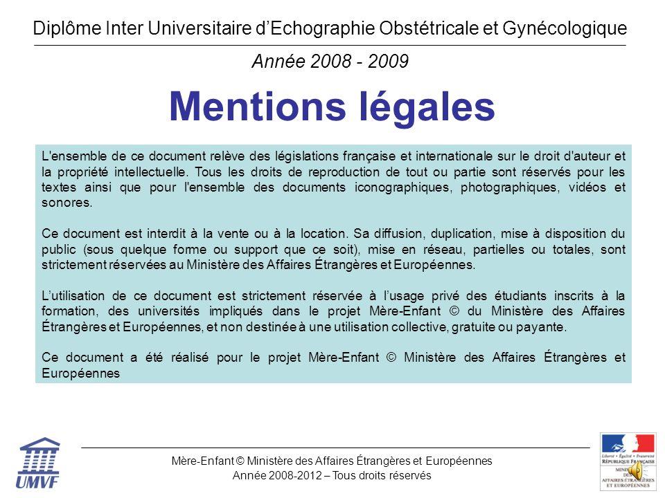 Diplôme Inter Universitaire d'Echographie Obstétricale et Gynécologique