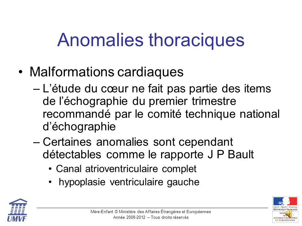 Anomalies thoraciques