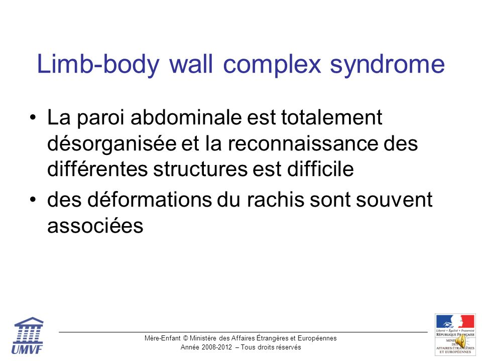 Limb-body wall complex syndrome