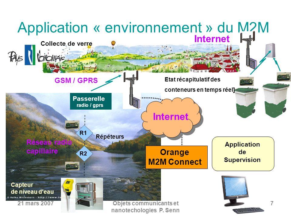 Application « environnement » du M2M