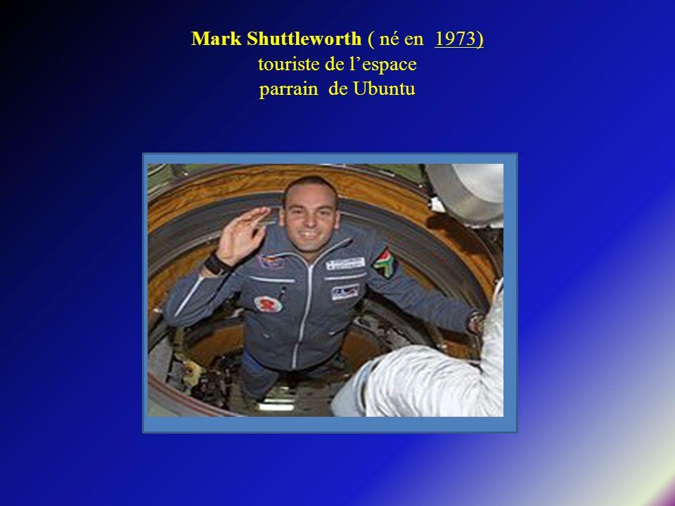 Mark Shuttleworth ( né en 1973) touriste de l'espace parrain de Ubuntu