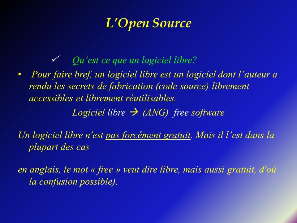 Logiciel libre  (ANG) free software