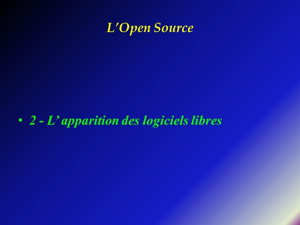 L'Open Source 2 - L' apparition des logiciels libres