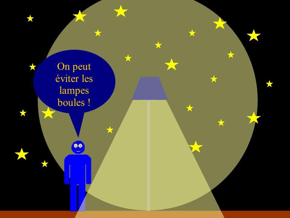 On peut éviter les lampes boules !