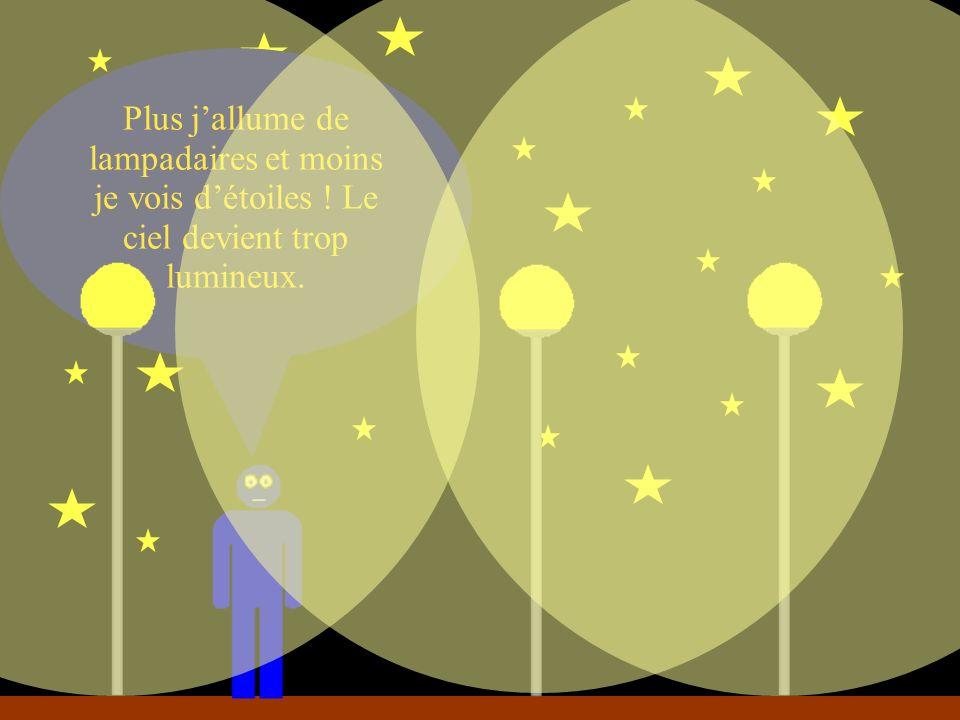 Plus j'allume de lampadaires et moins je vois d'étoiles