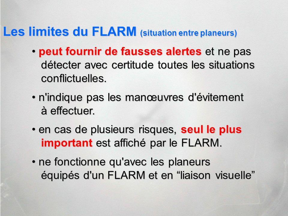 Les limites du FLARM (situation entre planeurs)