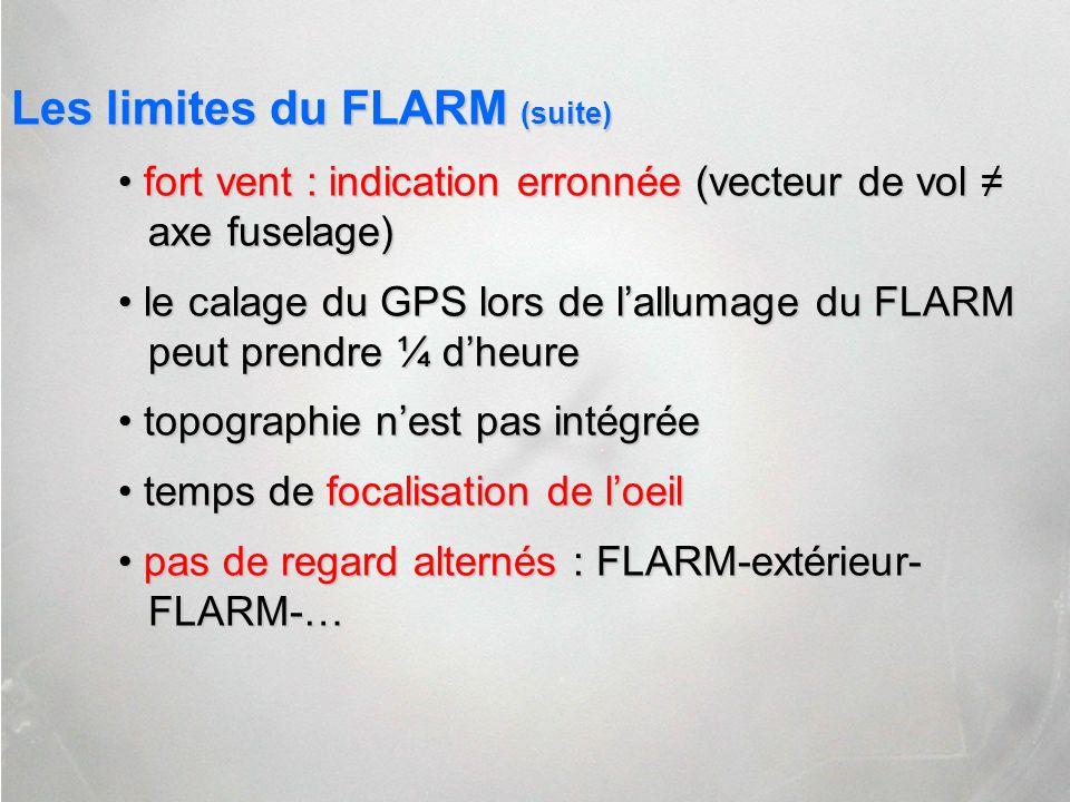 Les limites du FLARM (suite)