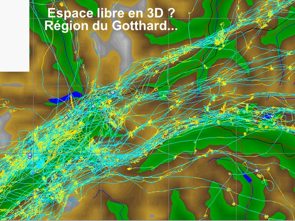 Espace libre en 3D Région du Gotthard...