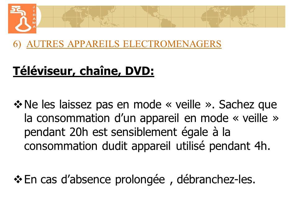 6) AUTRES APPAREILS ELECTROMENAGERS