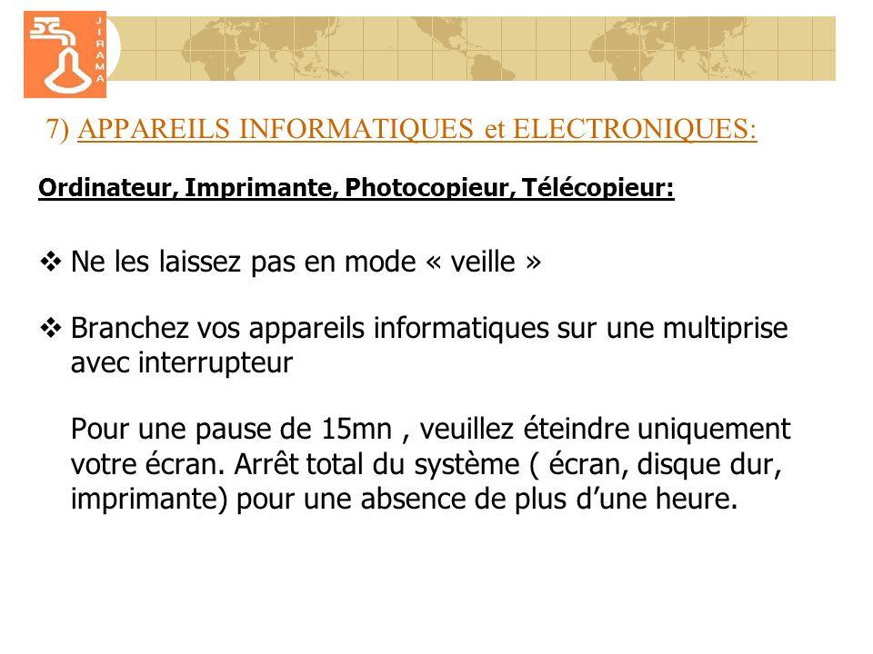 7) APPAREILS INFORMATIQUES et ELECTRONIQUES: