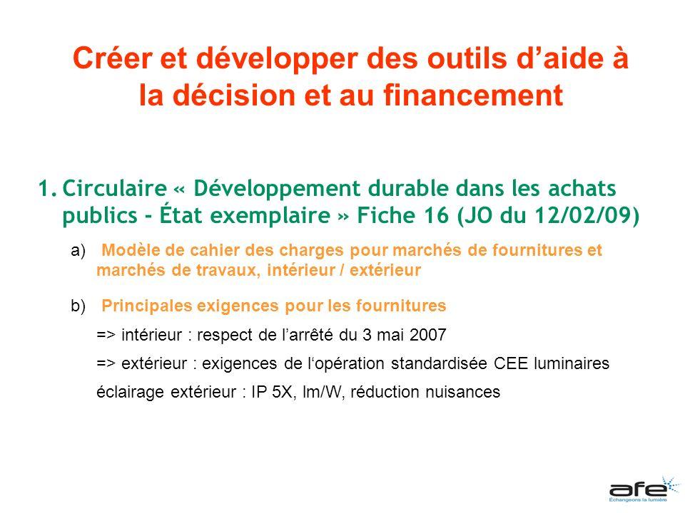 Créer et développer des outils d'aide à la décision et au financement