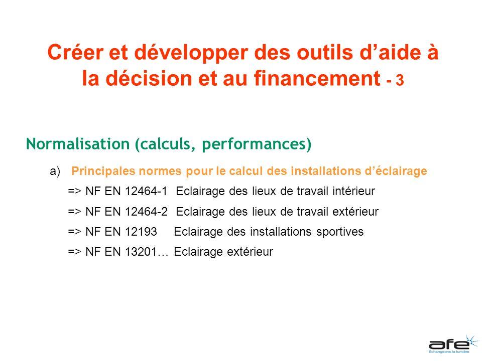 Créer et développer des outils d'aide à la décision et au financement - 3