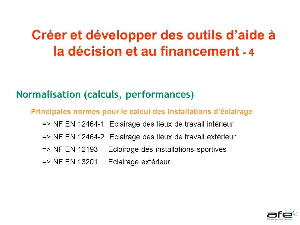 Créer et développer des outils d'aide à la décision et au financement - 4