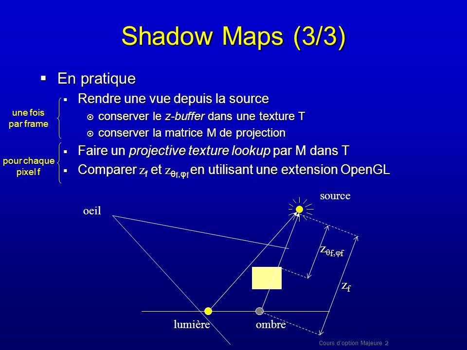 Shadow Maps (3/3) En pratique Rendre une vue depuis la source