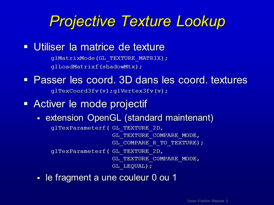 Projective Texture Lookup