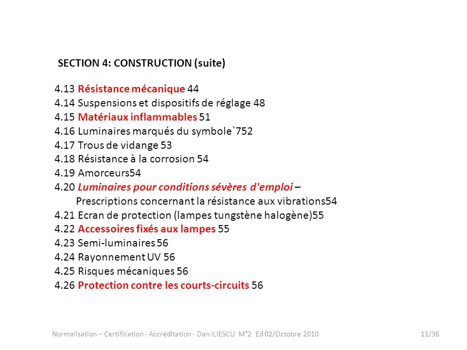 SECTION 4: CONSTRUCTION (suite)