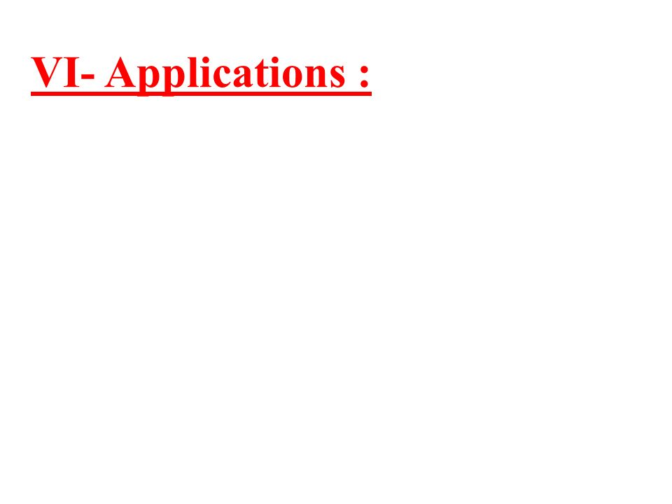 VI- Applications :