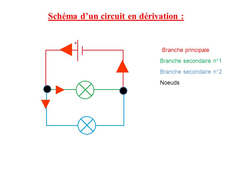 Schéma d'un circuit en dérivation :
