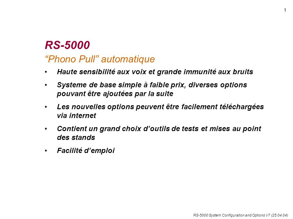 RS-5000 Phono Pull automatique