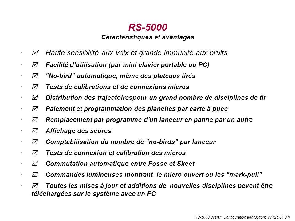 RS-5000 Caractéristiques et avantages