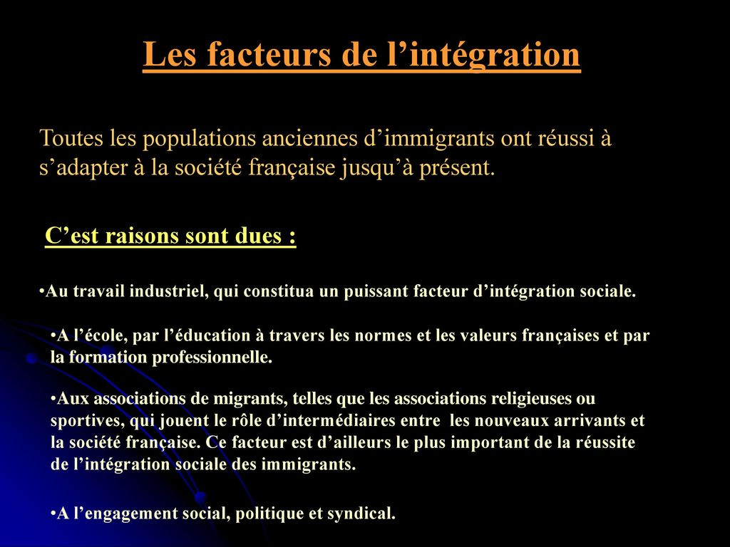 L 39 immigration en france ppt video online t l charger - Office francaise d immigration et d integration ...