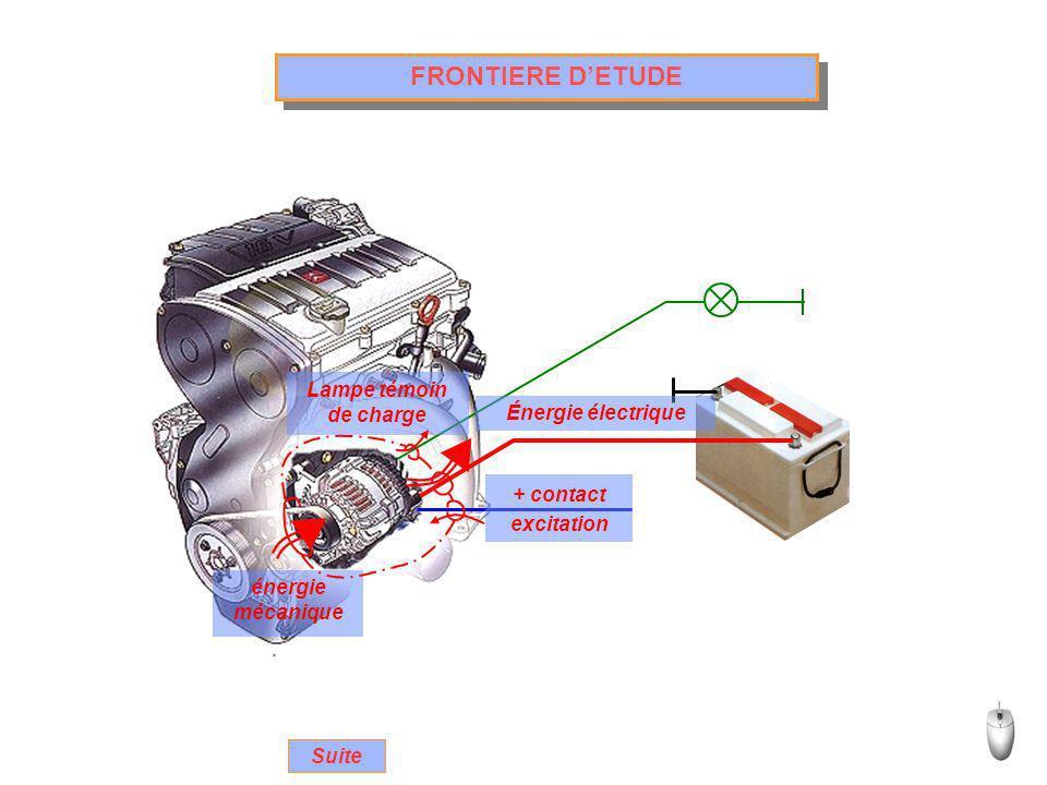 FRONTIERE D'ETUDE Lampe témoin de charge Énergie électrique + contact