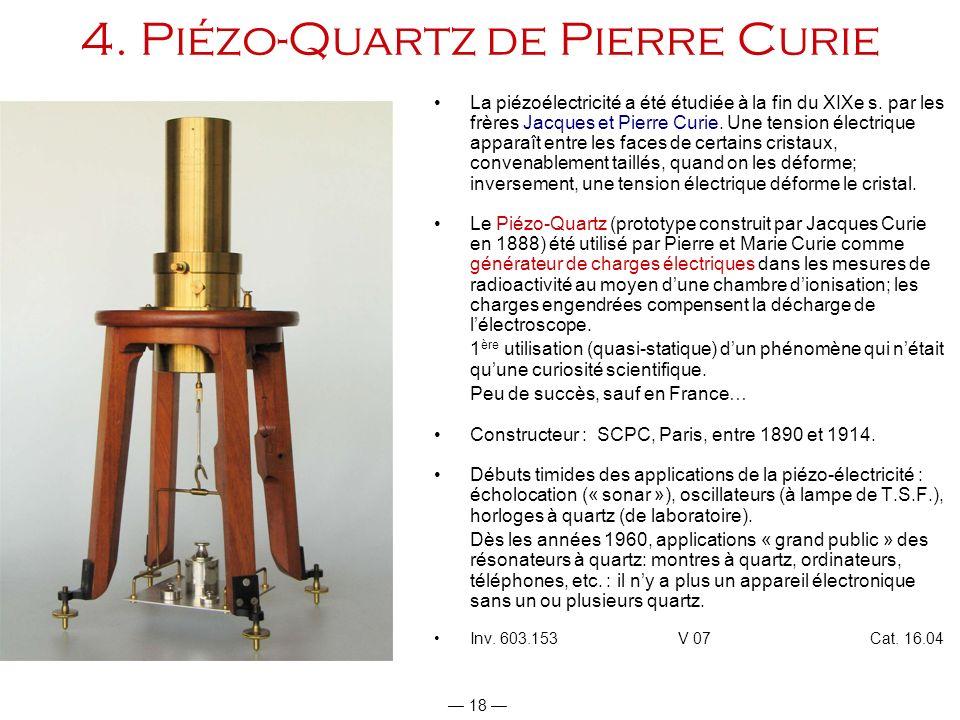 4. Piézo-Quartz de Pierre Curie