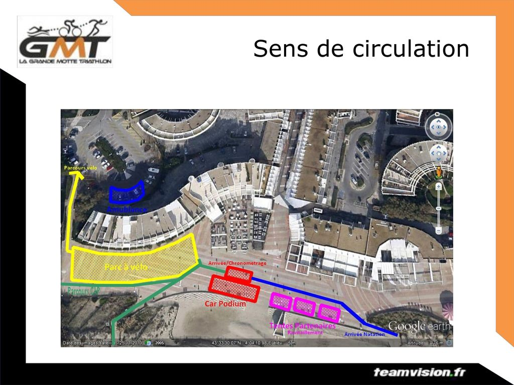Sens de circulation Briefing(Triathlon(de(la(Grande(Mo2e(2014( 9(