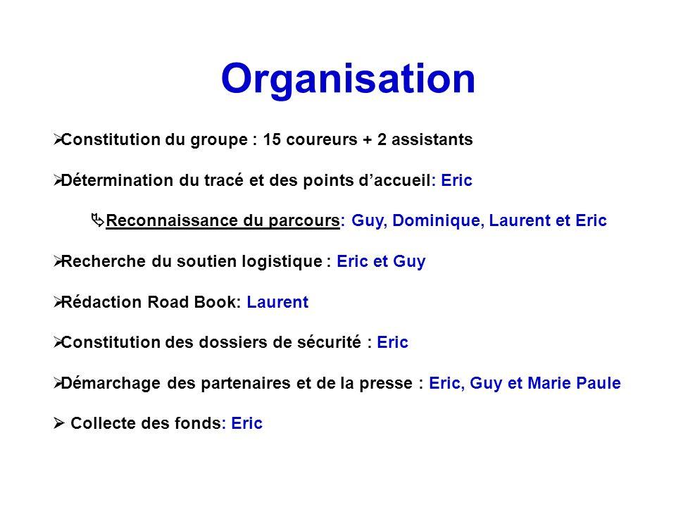 Reconnaissance du parcours: Guy, Dominique, Laurent et Eric